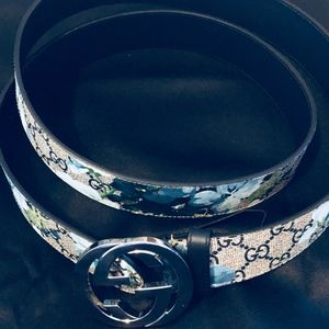 28c214bb3 Gucci Accessories | Newauth Mens Gg Supreme Blooms Belt | Poshmark